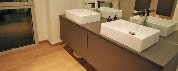 meuble avec vasque intégrée